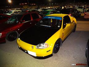 Yellow Honda Del Sol