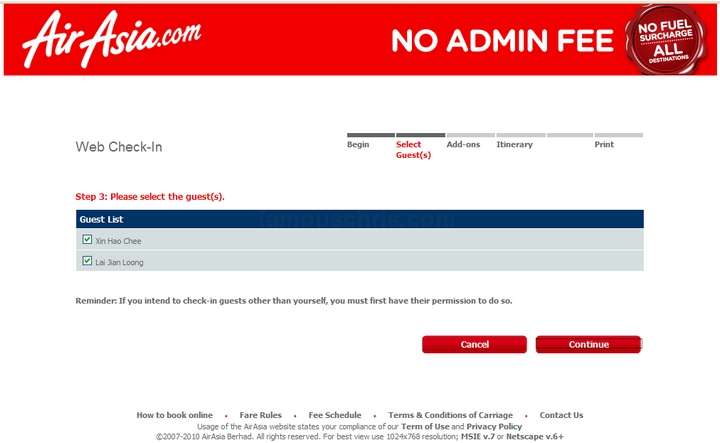 How To Use AirAsia Web Check In
