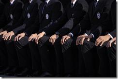 Foto Squadra 2015/16, il backstage in divisa formale
