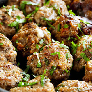 Gluten Free Meatballs with Vegetables and Herbs