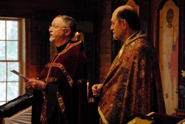 Fr. John reflecting on the visit of the SVS Octet Choir.