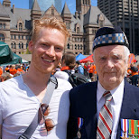 a true honour meeting a Canadian war veteran who liberated the Netherlands in Toronto, Ontario, Canada