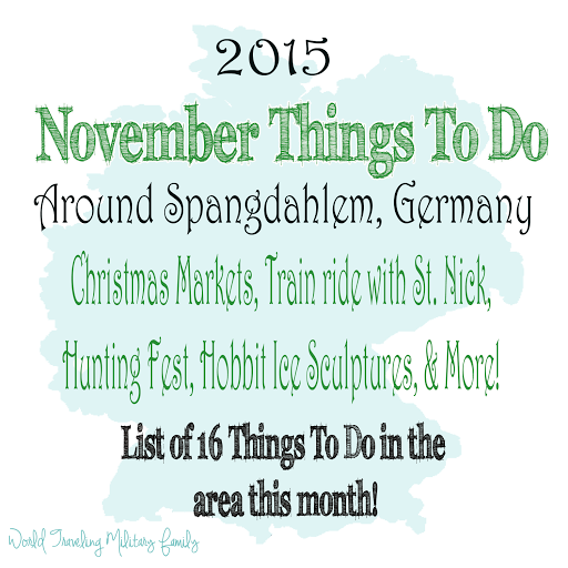 List of 16 November Things to do Around Spangdahlem. Christmas Markets, Hobbit Ice Sculptures, Train ride with St. Nick, Festivals & more!
