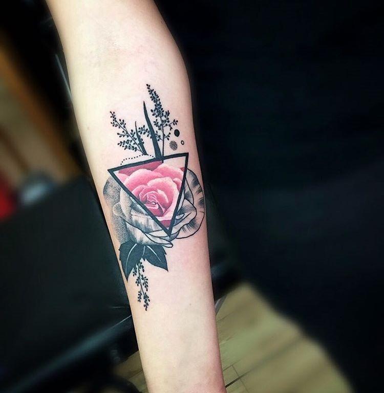 este_geomtricas_aquarela_flor_da_tatuagem_6