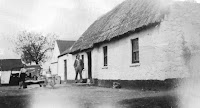An early picture of the Allen farmhouse - it was like this for about 170 years