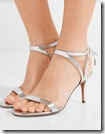 Aquazurra silver leather sandals