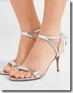 Aquazurra silver leather sandals