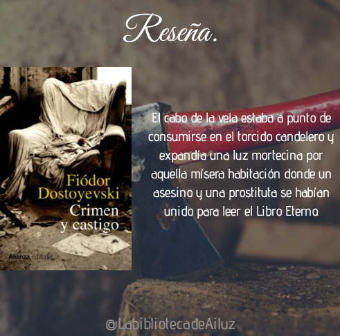 Reseña: Crimen y castigo. — Fiodor Dostoievski