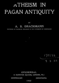 Cover of Anders Bjorn Drachmann's Book Atheism in Pagan Antiquity