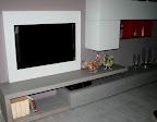 soggiorno Lampo della collezione la casa moderna - particolare pannello porta tv