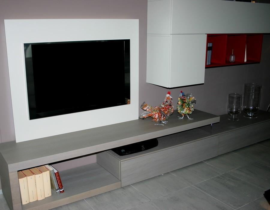 soggiorno Lampo della collezione la casa moderna - pasrticolare pannello porta tv .jpg