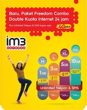 Jual Paket Indosat Freedom Combo Termurah
