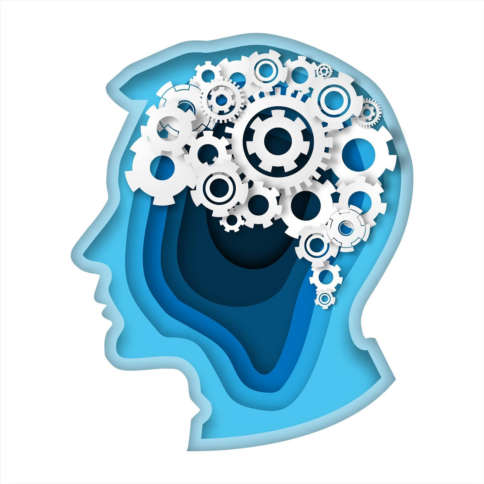 Head With Gear Brain Paper Art Style Thinking Concept	 Free Download Vector CDR, AI, EPS and PNG Formats