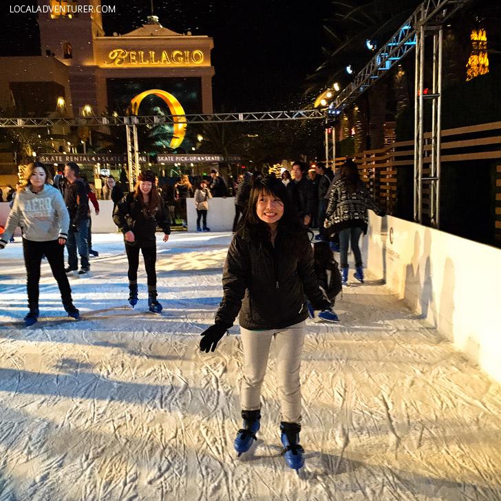 Ice Skating Cosmopolitan Hotel Las Vegas.