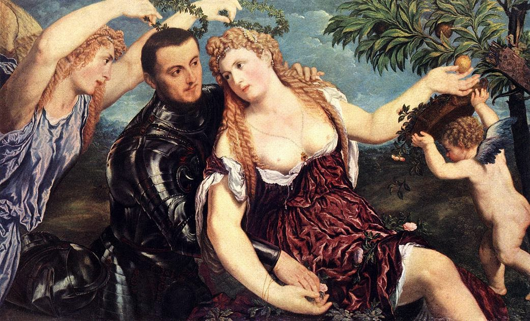 Paris Bordone - Allegory with Lovers