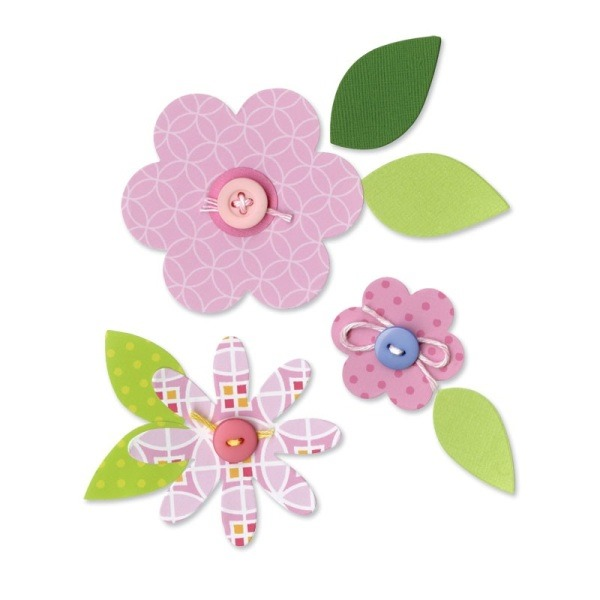 fustella Sizzix Bigz Die Flower Layers and Leaves 657690