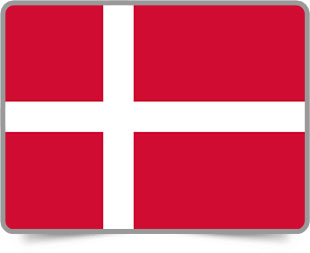 Danish framed flag icons with box shadow