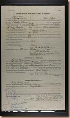 Isaac Odom Mortuary Warrant