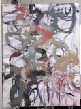 Jardin blanc 3 60X80,huile/toile