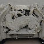 Château de Vincennes : Sainte-Chapelle, salamandre, symbole de François Ier