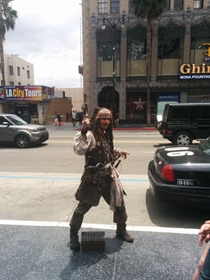 Captain Jack Sparrow at the Hollywood Walk of Fame