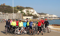 The White Cliffs of Dover - lunchtime on Tom's ride