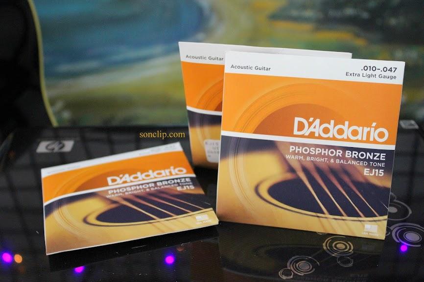 Dây Đàn Guitar Acoustic - D'Addario EJ15