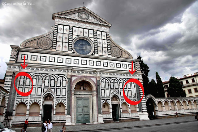 Santa Maria Novella. From More Secrets of Florence: Naked Debtors And Michelangelo's Graffiti