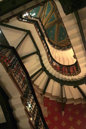 Staircase in the St Pancras Renaissance Hotel in London