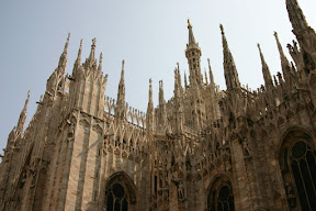 Looking up at Milan Cathedral
