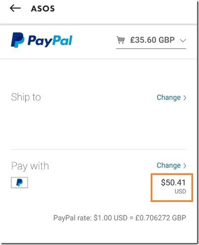 ASOS PayPal