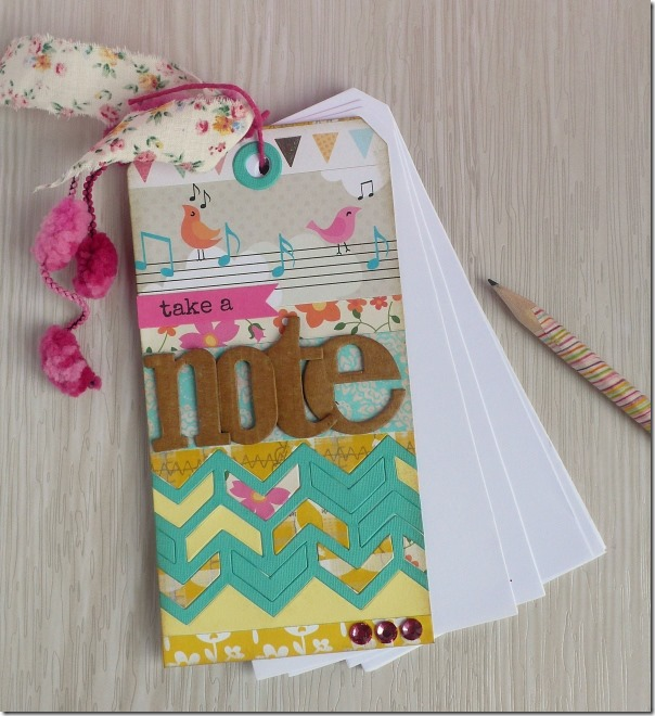 Anna Draicchio - sizzix big shot - notes bookmark (2)