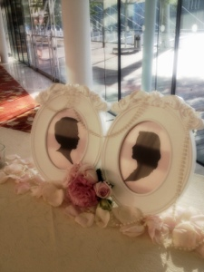 Silhouette cut out victorian themed wedding marina bay sands