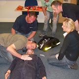 Casualty Care for Lifeboat Crew course – April 2011: assessment of casualty; checking breathing rate