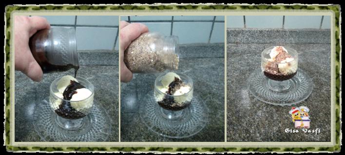 Calda e farofa para sorvete 8