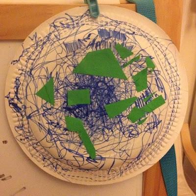 paper plate craft earth Genesis