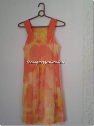 Tie Dye - Vestidinho laranja