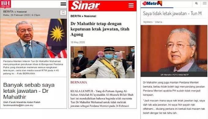 Mahathir Kata Dia Tak Pernah Letak Jawatan, Korang Layan Jer.. Okey..