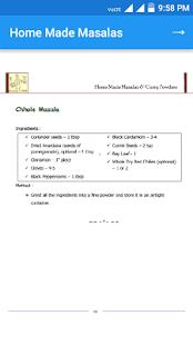 Homemade Masala Recipe screenshot