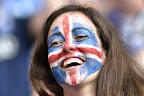 Izlandi szurkoló a franciaországi labdarúgó Európa-bajnokság Anglia - Izland mérkőzésen, Nizza, 2016 (MTI Fotó: Illyés Tibor)
