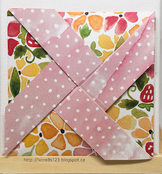 Linda Vich Creates: September Projects for Stamping Group. Pinwheel Fold card created using the Jar of Love stamp set and coordinating dies with Fruit Stand DSP.