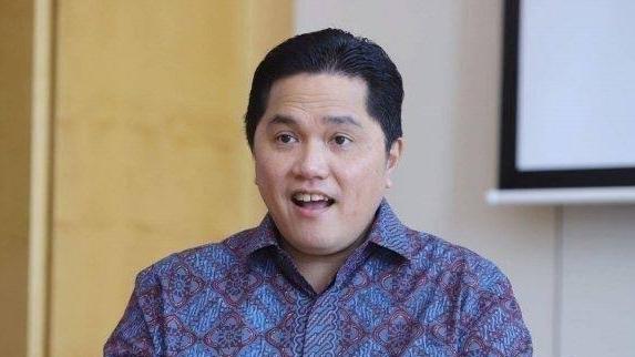 Foto: Erick Thohir. Vaksin Corona RI Diproduksi Januari 2021.
