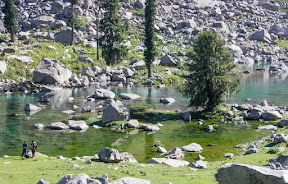 Beautiful ponds on the way to the Katora Lake, these ponds are no less beautiful than  Naltar Lakes in Gilgit Baltistan.