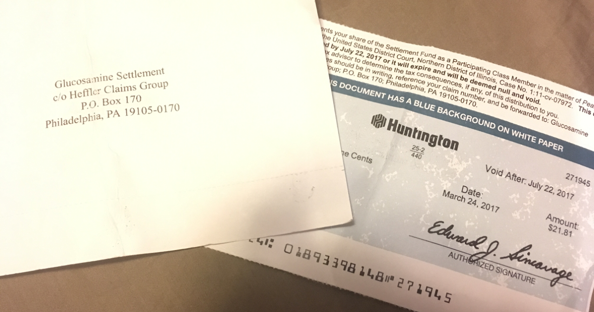 Scraping by in Boston: Attention! Some class action checks don't ...