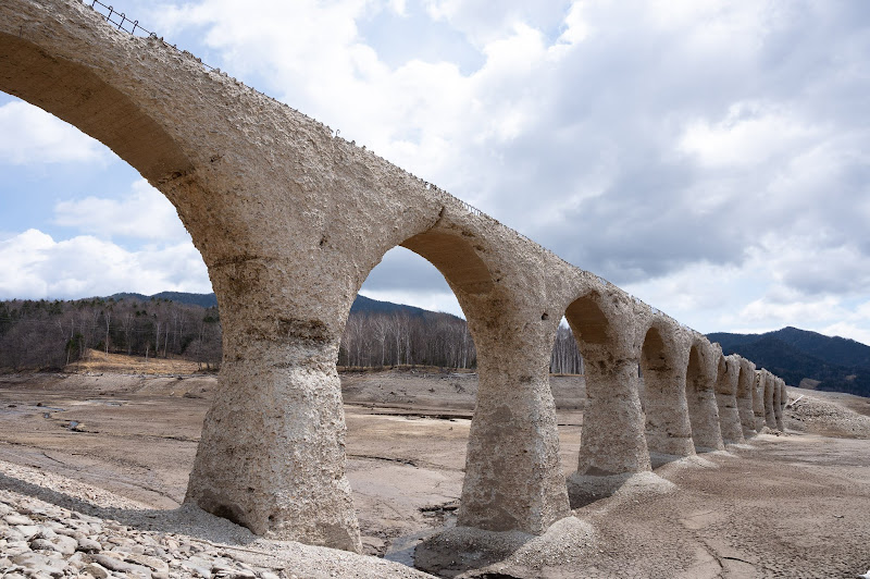 190503 タウシュベツ川橋梁下流側