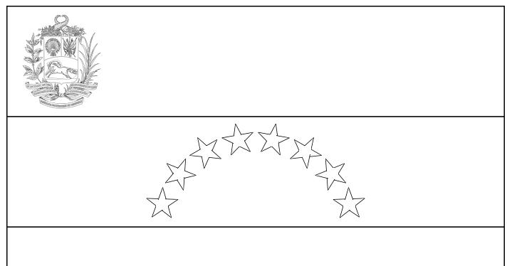 Geography Blog Venezuela Flag Coloring Page