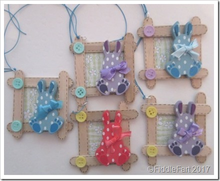 Easter Bunny New Baby Craft Stick Tag