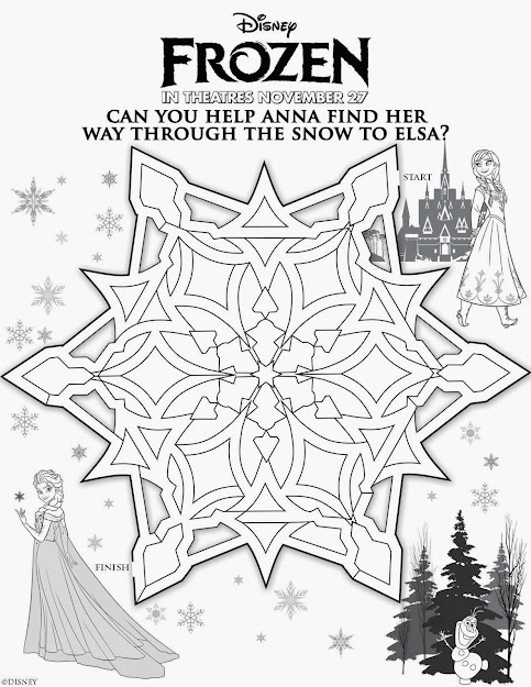 Coloring Printables Frozen  Disney Frozen Activity Sheets Now Available  Just Click And Print