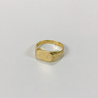 14K Gold Baby Signet Ring