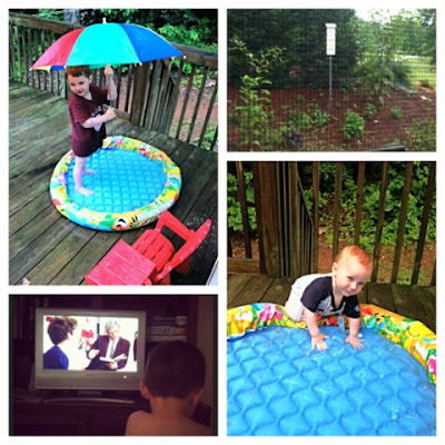 toddler homeschool, playing in the rain